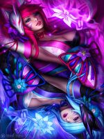 Kia and Aki - Yin and Yang by MichelleHoefener