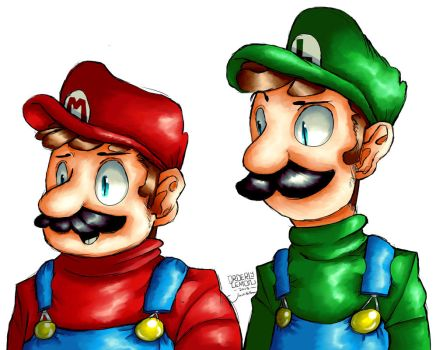 Mario and Luigi by Orderly-Lemon