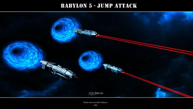 Babylon 5 - Jump Attack by Mallacore