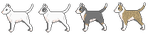 [free] bull terrier pixel icons! by puppiiies