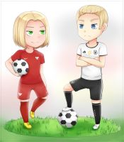 [APH] Chibi Poland and Germany - Soccer by Annington
