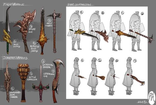 Fantasy Weapons by BistroD