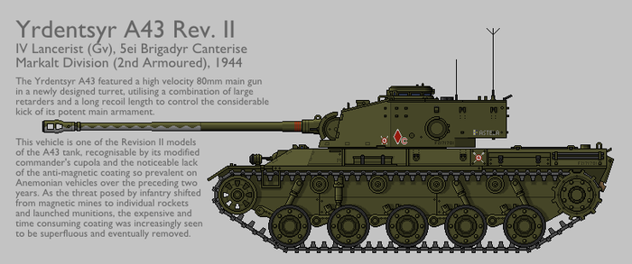 A43 Rev. II Medium Tank [Graphic Coloured] by SixthCircle