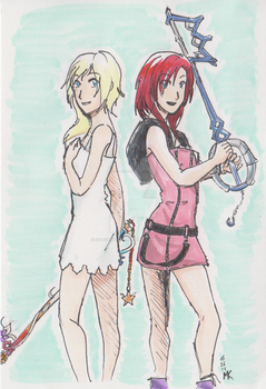 Commish: Kairi and Namine by SoggyMuffinHead by x-Destinys-Force-x