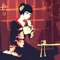 Character Design. Geisha by cheesecaketime