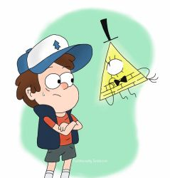 Bill and Dipper by Kaylee-Michele