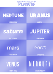Fontspack#4 Planets by ljgrfx