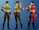Sonya Blade - Mortal Kombat 4 by ZabZarock