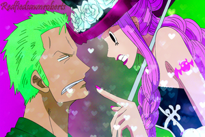 Zoro and Perona 2Y by redfiedsawnroberts