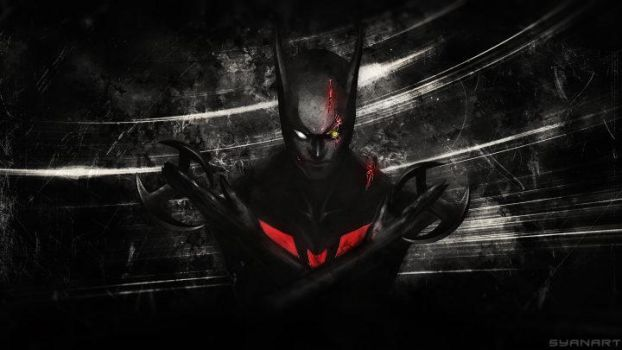Batman Beyond Future abstract Wallpaper by TheSyanArt