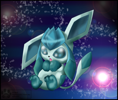Chibi Glaceon by LynxBot