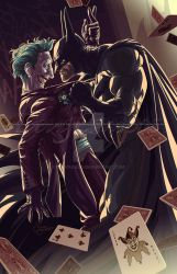 The Batman and The Joker by el-douglas
