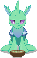 Changeling eating a soup (Vector) by Chrzanek97