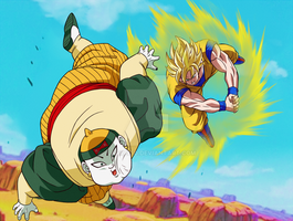 DBZ C19 vs Goku Redraw by JuneReito