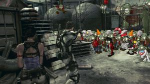 RE5 meets Plants vs Zombies by Cochran-BananaHands