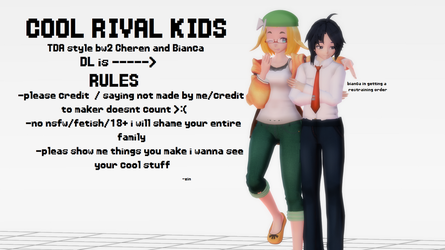 COOL RIVAL KIDS [TDA Cheren and Bianca DL] by ZINNlA
