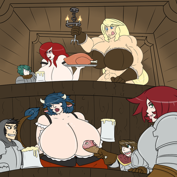 Naughty Wizard get together by owlizard
