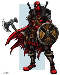Viking Deadpool by TheLivingShadow