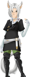 Miqo'te Thancred by shsl-ivalice