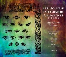 Page 31 Art Nouveau Typographic Ornaments by AllThingsPrecious