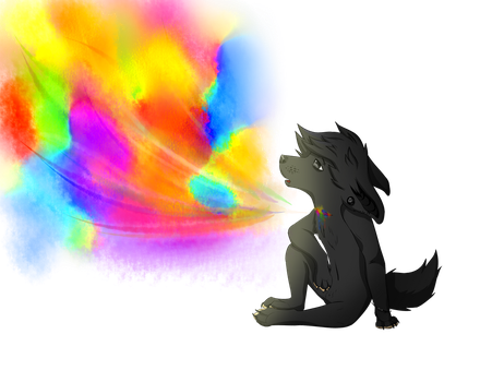 Colorful suicide | vent art by Gazillka