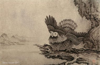 The eagle which looks at the top by Hiroo-Suzuki
