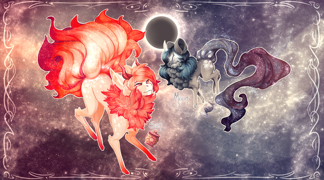 Sun and Moon | Stardusters | OPEN on Sapphu-Adopts by Tanksi
