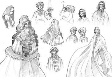 'Harry Potter' Sketches by kyla79