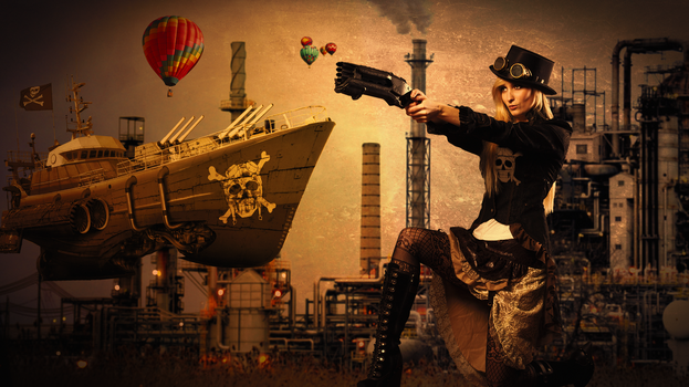 Steampunk Pirate by kado897