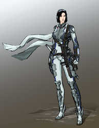 Katya - battlesuit view 2 by TheDrowningEarth