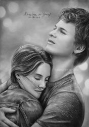 Hazel Grace Lancaster and  Augustus Waters by kansineedegraefart