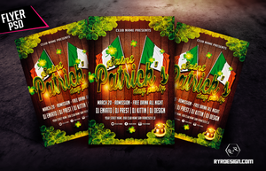 St Patricks Party Flyer Template by ryrdesign