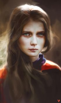Portrait Painting after photo by uglasteel