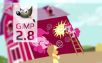 Gimp Pinkie Pie custom Splash screen 2 by Marcsello