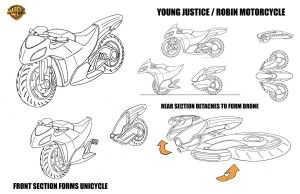 Young Justice Robin's Motorcycle by alexanderkubalsky