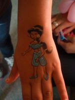Princess Jasmine Hand Art by Elliesmeria