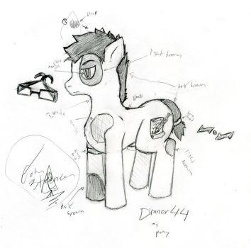dranor44 as a pony 2013 by dranor44