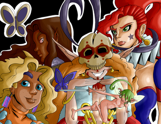 Cast of The Star Jester by Shane-Emeraldwing