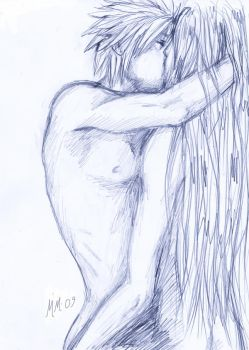 Sketch: CloudxSephiroth by Mobicca