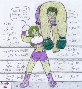 Boxing Hulks - Jennifer vs Bruce by Jose-Ramiro