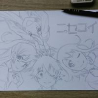 Pencil lines for Nisekoi drawing :) by HonzikSuchy
