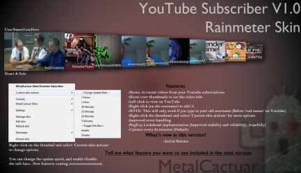 YouTube Subscriber v1.00 by MetalCactuar