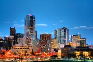 Downtown Denver at Dusk HDR by designKase