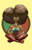 Afro Lady by Zelmarr