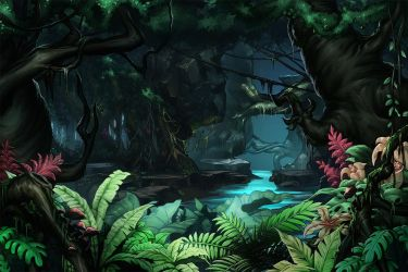 Jungle Background by papillonstudio