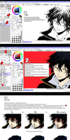 Manga coloring tutorial RUS by Ami-Fly