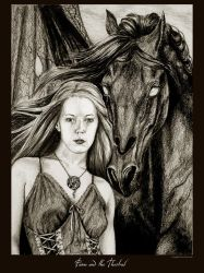 Fawn and the Thestral by Ellygator