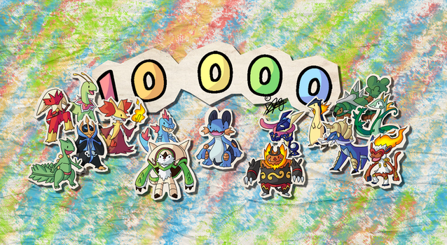 KawaiiDex -  Thanks  + 10 000 Visits by Draareg