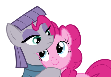 Pinkie and Maud Pie hug by AwokenArts