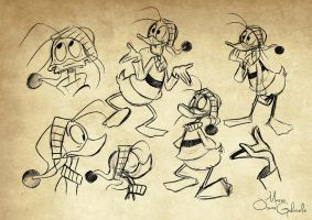 Fethry Duck sketches by MarioOscarGabriele
